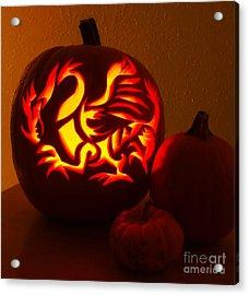 Dragon Light Of Fall Acrylic Print by Gem S Visionary