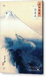 Dragon Rising To The Heavens 1897 Acrylic Print