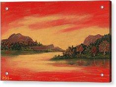 Dragon Sunset Acrylic Print