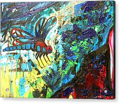 Dragonfly Abstract 1 Acrylic Print by Genevieve Esson