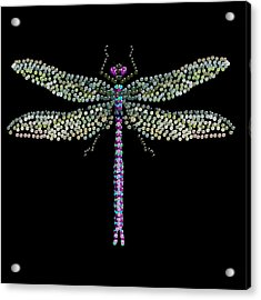 Dragonfly Bedazzled Acrylic Print