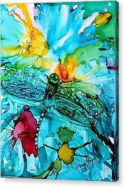 Dragonfly Blues Acrylic Print