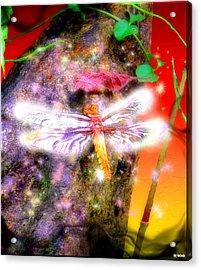Acrylic Print featuring the digital art Dragonfly by Daniel Janda
