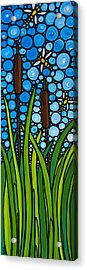Dragonfly Pond By Sharon Cummings Acrylic Print