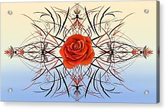 Dragonfly Rose Acrylic Print
