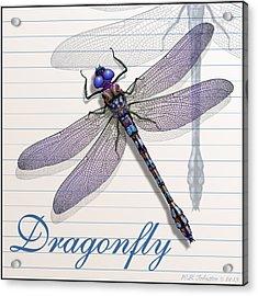 Dragonfly Acrylic Print by WB Johnston