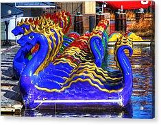 Dragons Acrylic Print by David Simons
