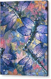 Acrylic Print featuring the painting Dragons  by Megan Walsh