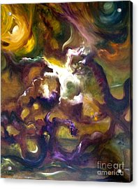 Dragons Acrylic Print by Michelle Dommer