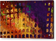 Dragon's Teeth Fire Grate Acrylic Print by Constance Krejci