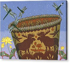 Acrylic Print featuring the painting Dragonfly - Cohkanapises by Chholing Taha
