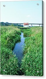 Drainage Channel Acrylic Print by Leslie J Borg/science Photo Library