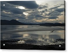 Drama Dornoch Firth Acrylic Print by Sally Ross