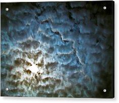 Drama In The Sky Acrylic Print by Eva Kondzialkiewicz