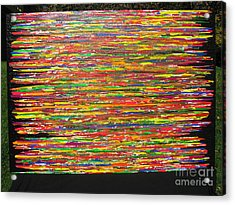 Acrylic Print featuring the painting Drama by Jacqueline Athmann