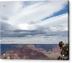 Dramatic Clouds Over The Grand Canyon Acrylic Print by Laurel Powell