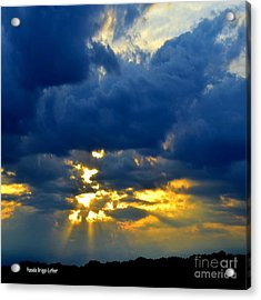 Dramatic Clouds Acrylic Print by Luther Fine Art