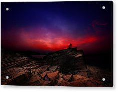 Acrylic Print featuring the photograph Dramatic Dawn by Afrison Ma