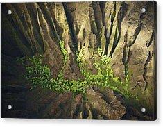 Dramatic Kokee Aerial Acrylic Print by Kicka Witte