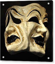 Dramatic Mask Acrylic Print