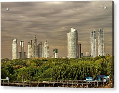 Dramatic Modern Buenos Aires Acrylic Print by For Ninety One Days