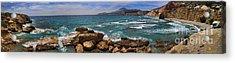 Dramatic Ocean Panorama On Milos Island Greece Acrylic Print