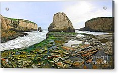 Dramatic Panoramic View Of Shark Fin Cove Acrylic Print