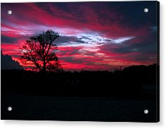 Dramatic Sky At Daybreak. Acrylic Print by Paul Scoullar