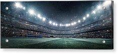 Dramatic Soccer Stadium Panorama Acrylic Print by Dmytro Aksonov