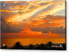 Dramatic Sunset Acrylic Print by Mariarosa Rockefeller