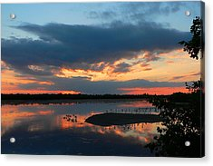 Acrylic Print featuring the photograph Dramatic Sunset by Rosalie Scanlon