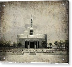 Draper Temple Stand In Holy Places Antique Acrylic Print