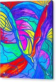Drastic Change Acrylic Print by Teal Eye  Print Store