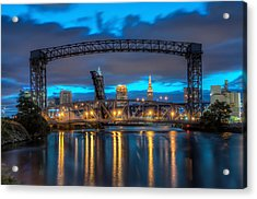 Draw Bridge At Dawn Acrylic Print