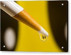 Happy Water Drop Pencil Acrylic Print