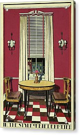 Drawing Of A Breakfast Room Acrylic Print