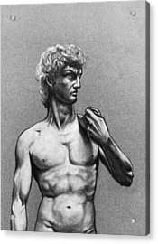 Drawing Of Michelangelos David Acrylic Print