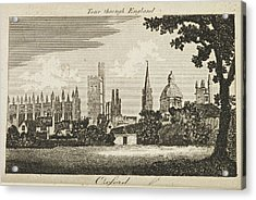 Drawing Of Oxford. Circa 1811 Acrylic Print by British Library