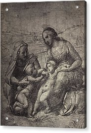 Drawing Raphael From Windsor Castle, Mary With Jesus Acrylic Print