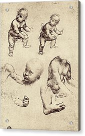 Drawings Of A Child Acrylic Print by Sheila Terry