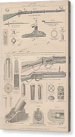 Drawings Of Gun Parts Acrylic Print by Anon