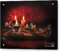 Drawn To The Flame Acrylic Print