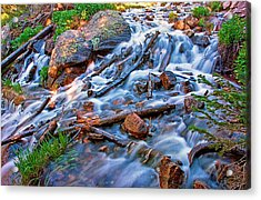 Dream Cascade Acrylic Print by Brian Kerls