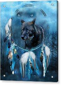 Dream Catcher - Midnight Spirit Acrylic Print by Carol Cavalaris