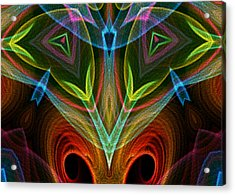 Acrylic Print featuring the digital art I Dream Flowers by Owlspook