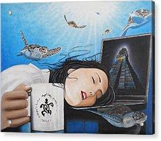 Dream Girl Acrylic Print by Angel Ortiz