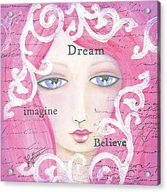 Dream Girl Acrylic Print by Joann Loftus