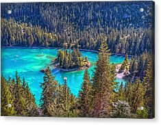 Dream Lake Acrylic Print by Hanny Heim