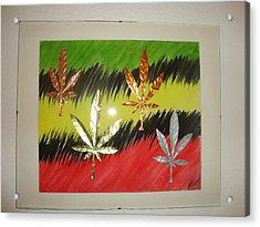 Dream Leaves Three Acrylic Print by Scott Faucett