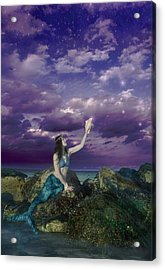 Dream Mermaid Acrylic Print by Alixandra Mullins